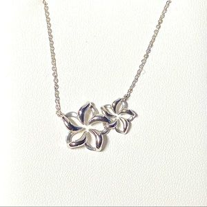 BRAND NEW-NA HOKU 14K White Gold Plumeria Necklace